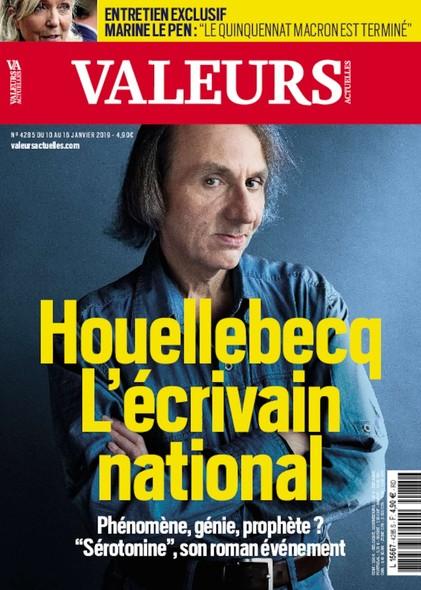 Valeurs Actuelles - Janvier 2019 - Houellebecq, écrivain national