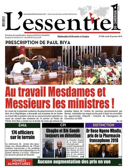 L'essentiel du Cameroun numéro 230
