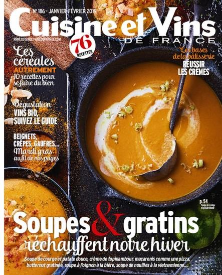 Cuisine & Vins - Janvier/Février 2019