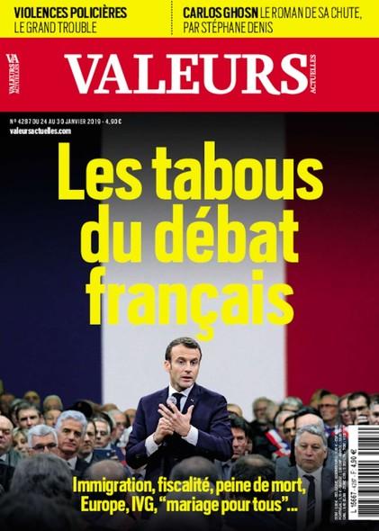 Valeurs Actuelles - Janvier 2019 - Les tabous du débat français