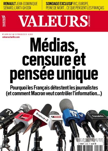 Valeurs Actuelles - Février 2019 - Médias, censure et pensée unique