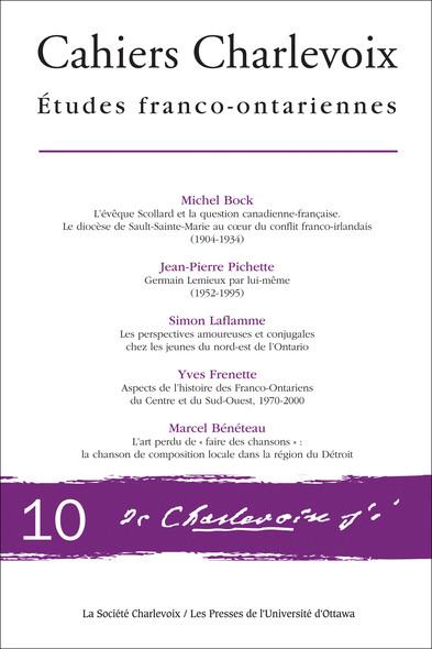 Cahiers Charlevoix 10 : Études franco-ontariennes