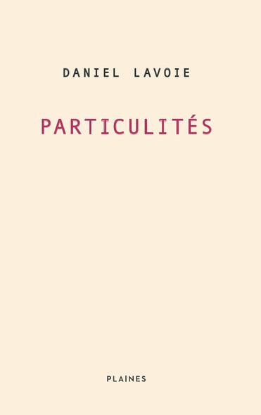 Particulités : Essai/ poésie