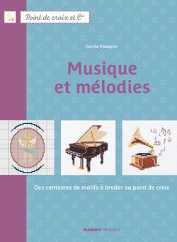 Musique et mélodies : Des centaines de motifs à broder au point de croix | Carole Pasquier