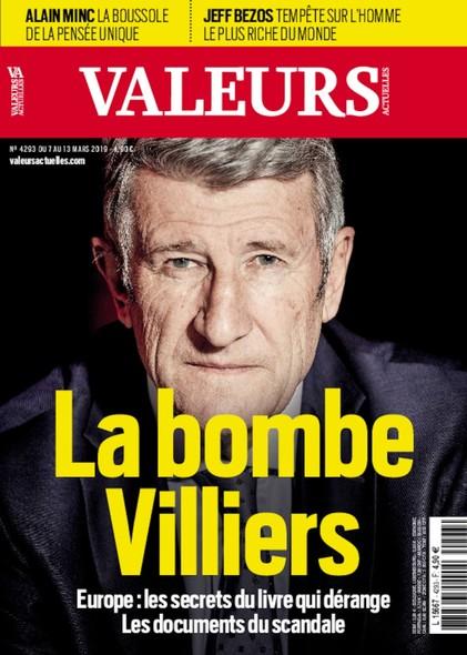 Valeurs Actuelles - Mars 2018 - La bombe Villiers