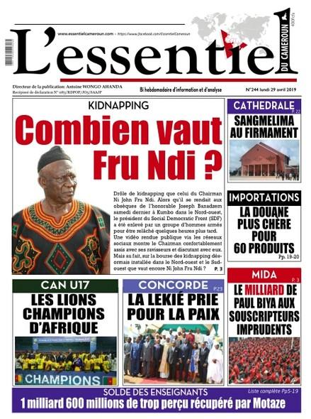 L'essentiel du Cameroun numero 244