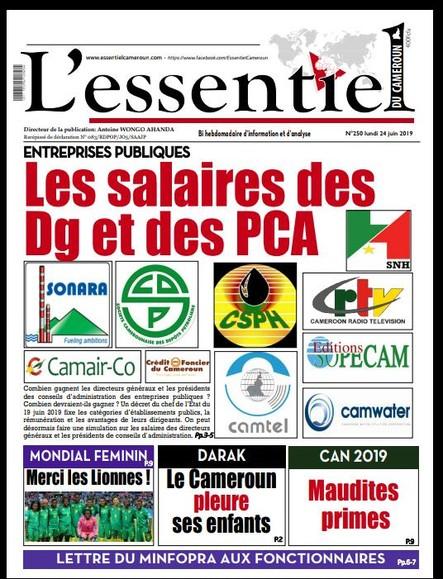 L'essentiel du Cameroun numéro 250