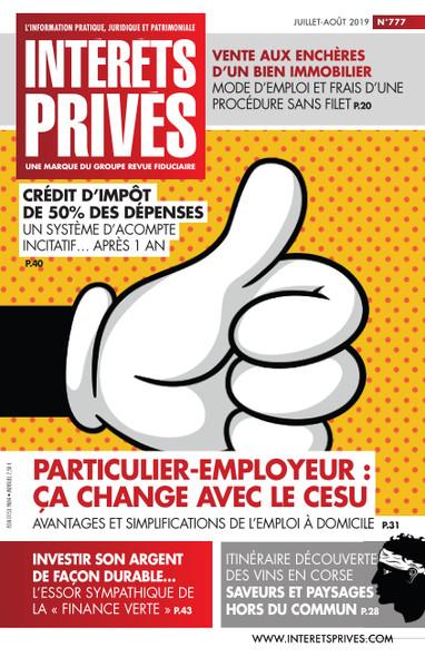Intérêts Privés - Juillet/Août 2019 - Particulier-Employeur : ça change avec le CESU