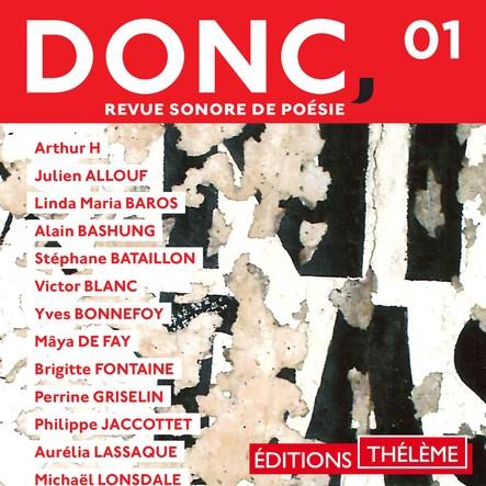 DONC, Revue sonore de poésie (Volume 1)
