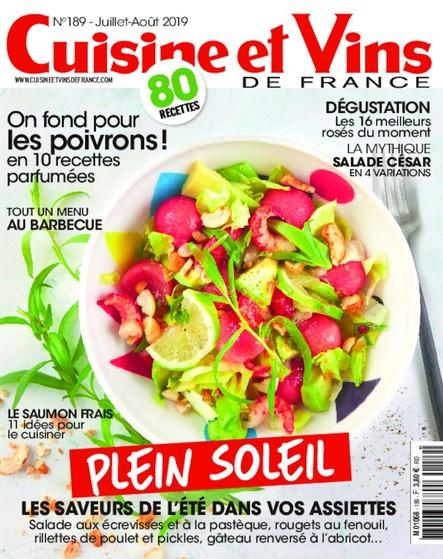Cuisine et Vins de France - Juillet/Août 2019
