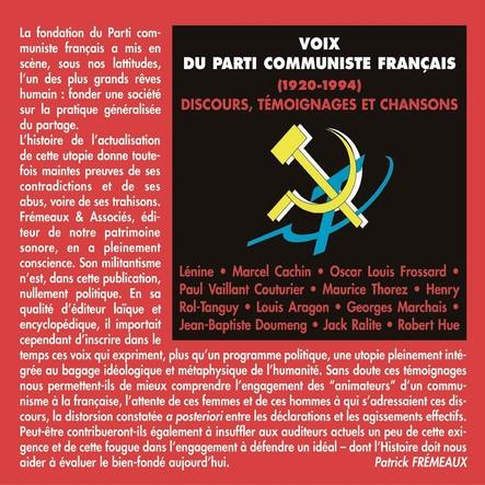 Voix du Parti communiste français 1920-1994 : Discours, témoignages et chansons