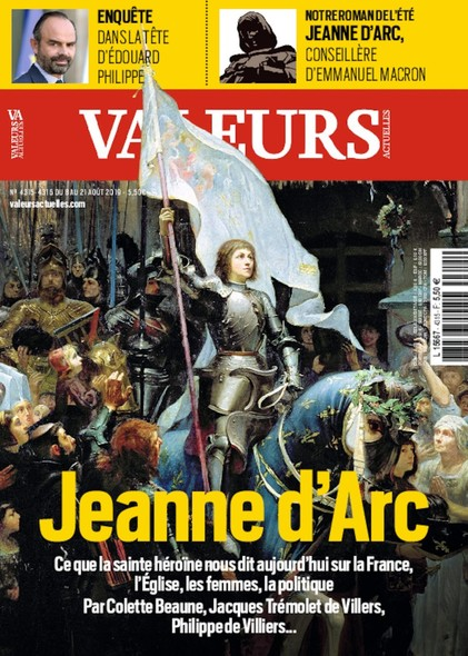 Valeurs Actuelles - Août 2019 - Jeanne d'Arc