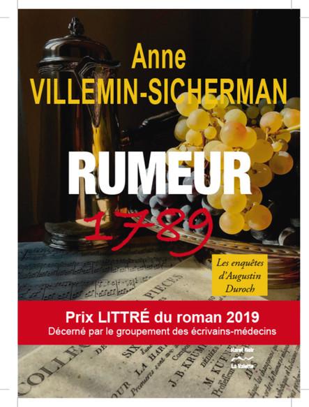 Rumeur 1789              Prix Littré du roman 2019 : Une enquête d'Augustin Duroch