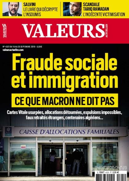 Valeurs Actuelles - Septembre 2019 - Fraude sociale et immigration