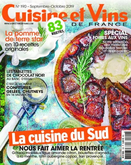 Cuisine et Vins de France - Septembre/Octobre 2019
