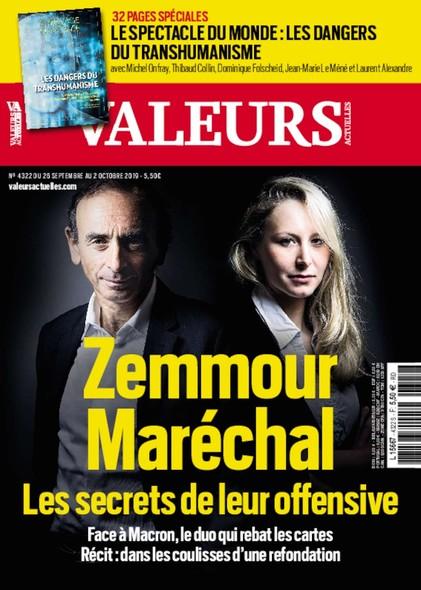 Valeurs Actuelles - Septembre 2019 - Zemmour & Maréchal : Les Secrets de leur Offensive