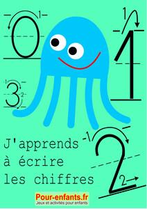Apprendre à écrire les chiffres en maternelle. Nombres de 0 à 9. : Cahier d'activités à imprimer. L'écriture des chiffres en maternelle. Modèles du tracé des chiffres. Nombres de 0 à 9. | Marc, Claude