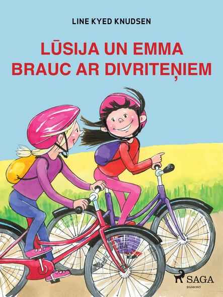 Lūsija un Emma brauc ar divriteņiem