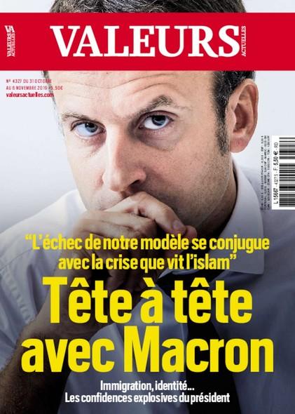 Valeurs Actuelles - Octobre 2019 - Tête à tête avec Macron