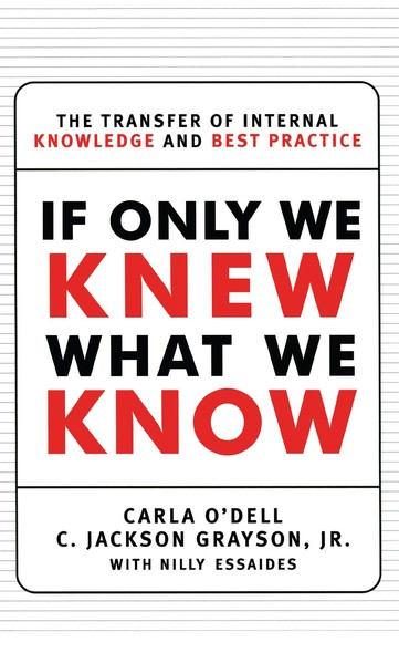 If Only We Knew What We Know : The Transfer of Internal Knowledge and Best Practi