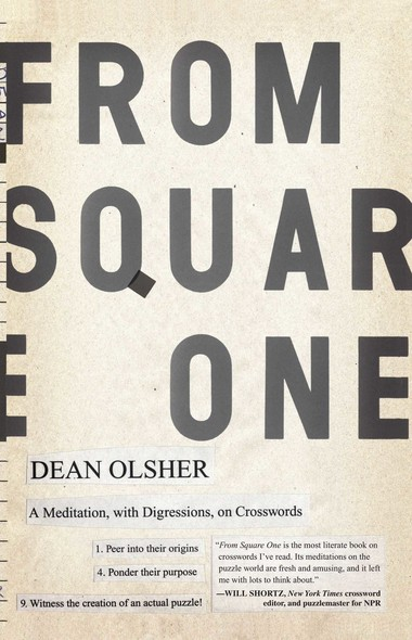 From Square One : A Meditation, with Digressions, on Crosswords