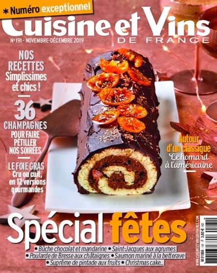 Cuisine et Vins de France - Novembre/Décembre 2019