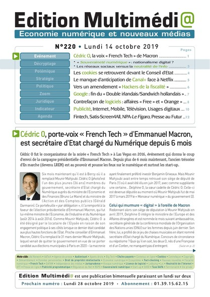 Edition Multimedia 220 - Lundi 14 octobre 2019