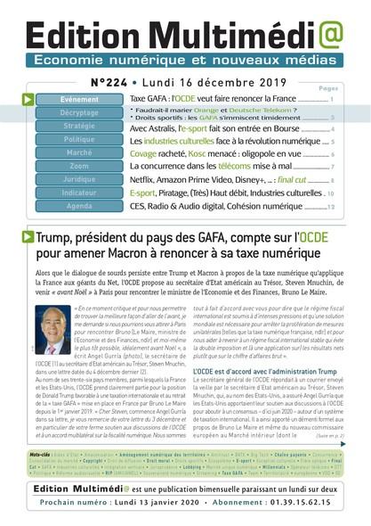 Edition Multimedia 224 - Lundi 16 decembre 2019