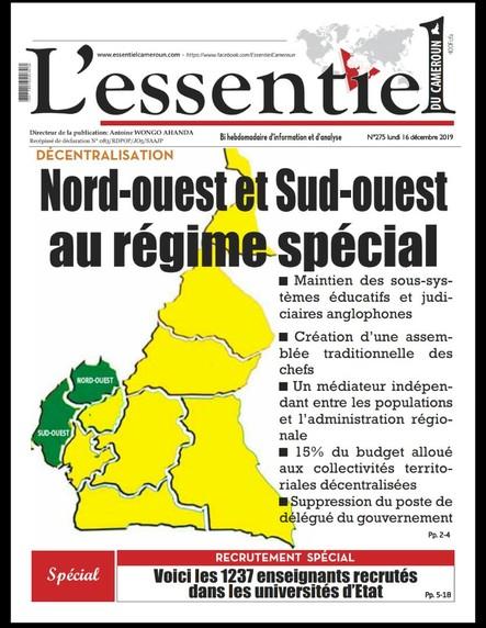 L'essentiel du Cameroun numéro 275