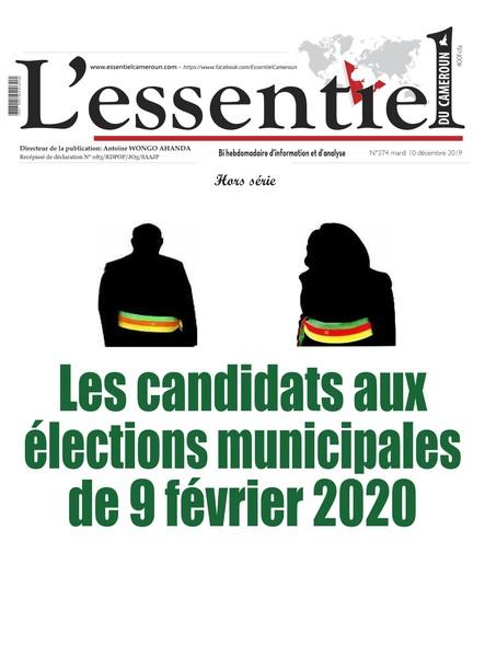 L'essentiel du Cameroun numéro 274C Supplément Spécial élections municipales