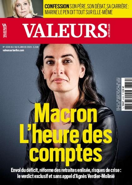 Valeurs Actuelles - Janvier 2020 - Macron : l'heure des comptes