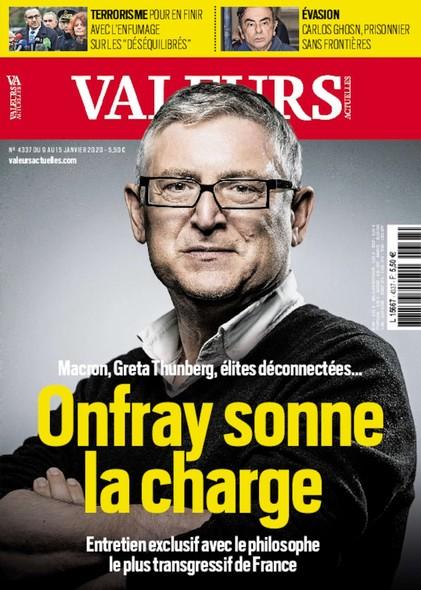 Valeurs Actuelles - Janvier 2020 - Onfray sonne la charge