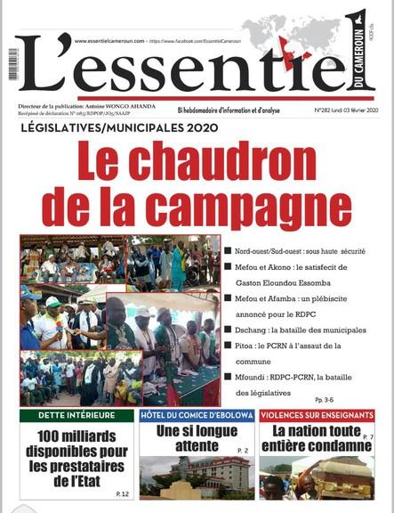 L'essentiel du Cameroun numéro 282