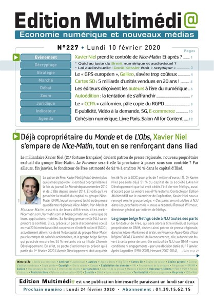 Edition Multimedia 227 - Lundi 10 fevrier 2020