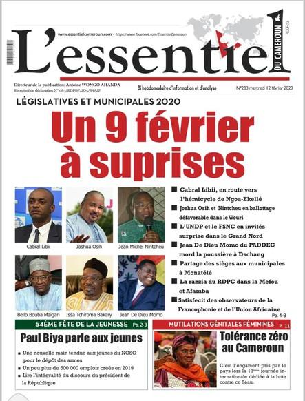 L'essentiel du Cameroun numéro 283