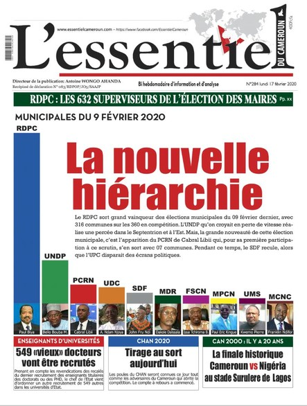 L'essentiel du Cameroun numéro 284