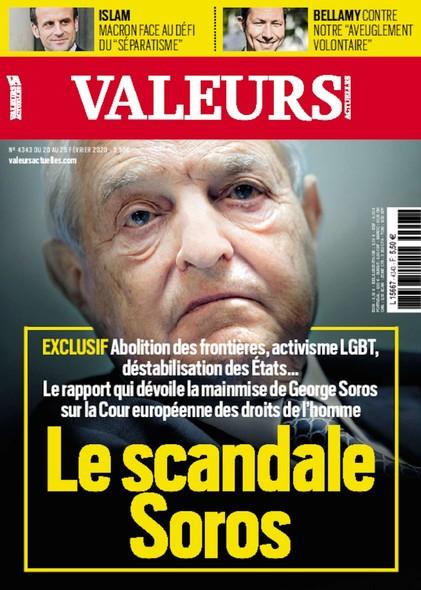 Valeurs Actuelles - Février 2020 - Le scandale Soros