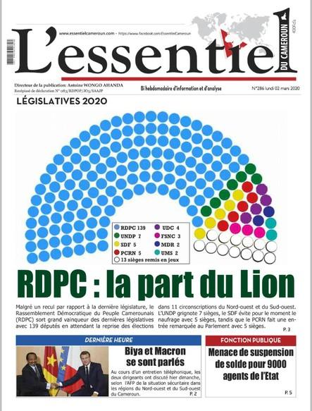 L'essentiel du Cameroun numéro 286