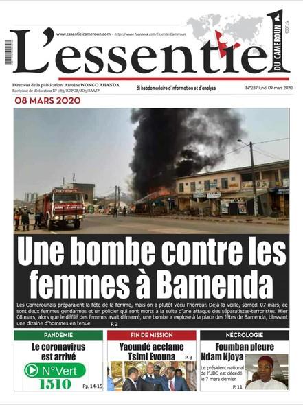 L'essentiel du Cameroun numéro 287