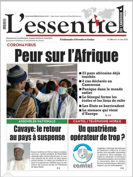 L'essentiel du Cameroun numéro 288