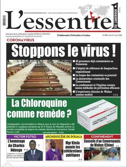 L'essentiel du Cameroun numéro 289