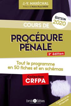 Cours de procédure pénale 2020 - Tout le programme en 50 fiches et schémas | Jean-Yves Maréchal