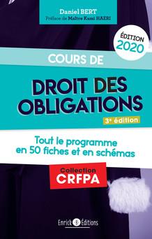Cours de droit des obligations 2020 - Toute le programme en 50 fiches et schémas | Daniel Bert