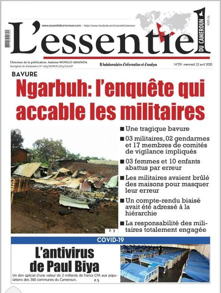 L'essentiel du Cameroun numéro 291