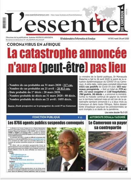 L'essentiel du Cameroun numéro 292