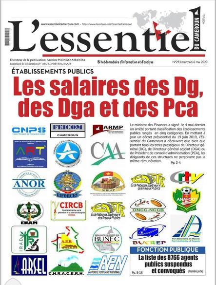 L'essentiel du Cameroun numéro 293
