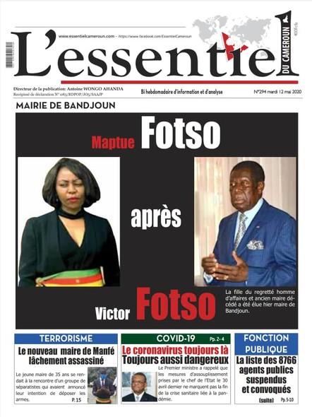 L'essentiel du Cameroun numéro 294