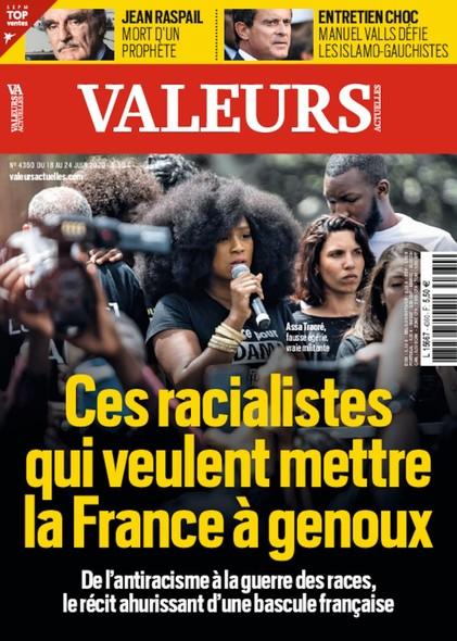 Valeurs Actuelles - Juin 2020 - Ces racialistes qui veulent mettre la France à genoux