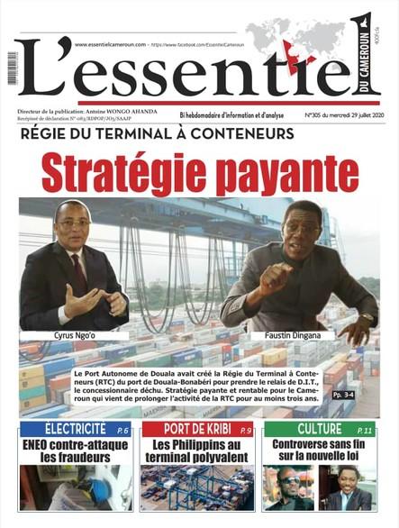 L'essentiel du Cameroun numéro 305