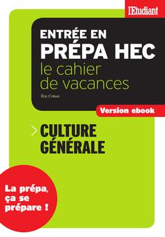 Cahier de vacances prépa HEC Culture générale | Eric Cobast